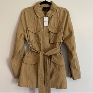 NEW 7 For All Mankind Women's Camel Utility Jacket
